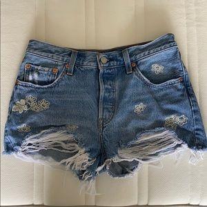 Denim deconstructed Levis shorts